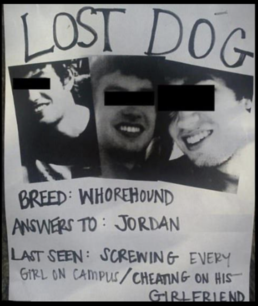 revenge pranks - lost dog poster